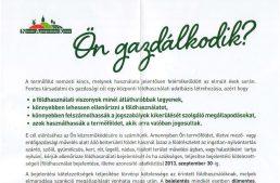 Földhasználati bejelentési kötelezettség