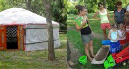 Öko jurta tábor Kishantoson