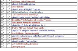 Szombati repülőnap tervezett programjai