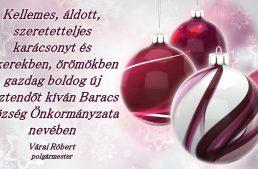 Áldott karácsonyi ünnepeket, boldog új évet!