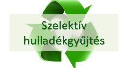 Szeletív hulladékgyűjtés 2017