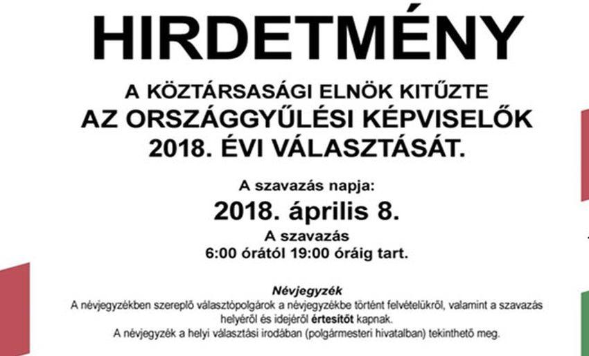 Alkotmányos jogaival élve Áder János köztársasági elnök kitűzte a 2018-as  parlamenti választás időpontját. Április 8-ra esett a választása c5236879cd