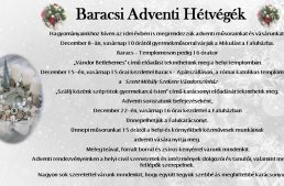 Adventi programok Baracson